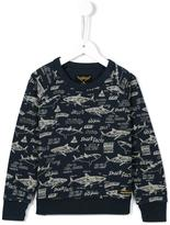 Finger In The Nose 'Hank' shark print sweatshirt