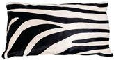 Le-Coterie Zebra Hide Pillow, Black/White