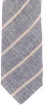 Luciano Barbera Linen Striped Tie w/ Tags