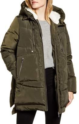 Sam Edelman Faux Shearling Lined Puffer Coat