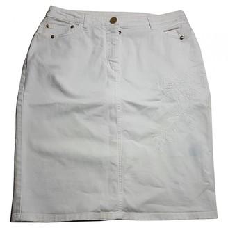 La Perla White Cotton - elasthane Skirt for Women
