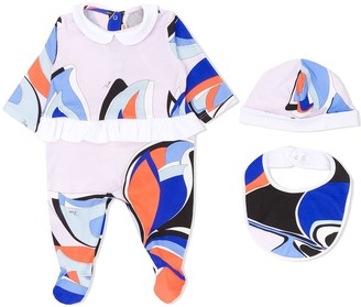 Emilio Pucci Junior Abstract-Print Babygrow Set