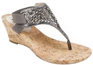 White Mountain Wedge Thong Sandals - Arnette