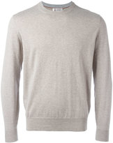 Brunello Cucinelli ribbed trim sweatshirt