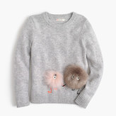 J.Crew Girls' furry Max the Monster wool popover sweater