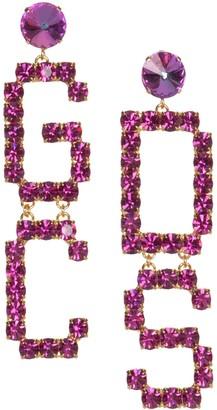GCDS Mix Strass Logo Earrings