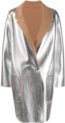 Pinko two-tone reversible coat