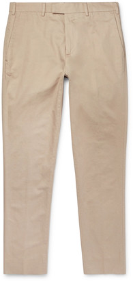 Salle Privée Gehry Slim-Fit Cotton And Linen-Blend Twill Trousers