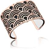 Les Georgettes Poisson Rose Gold Plated Bracelet w/Black and White Reversible Leather Strap