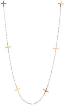 Linked cross earring