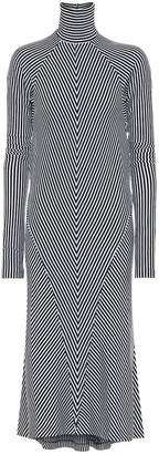 Haider Ackermann Chevron wool turtleneck midi dress