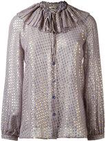 Etro polka dot blouse - women - Silk/Metallic Fibre - 38