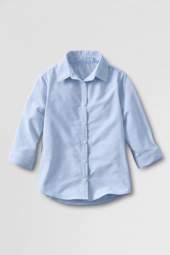 Lands' End NQP Girls' 3/4-sleeve Oxford Shirt