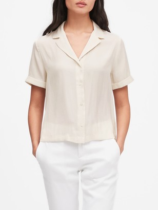 Banana Republic Camp-Collar Blouse