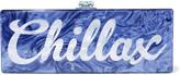 Edie Parker Flavia Chillax acrylic box clutch