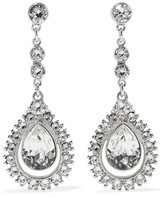 Ben-Amun Silver-Plated Crystal Earrings
