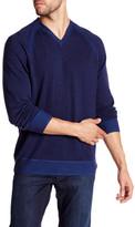 Robert Graham Cottage V-Neck Wool Blend Sweater