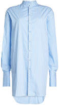 WILLIAM FAN Striped Cotton Shirt Dress