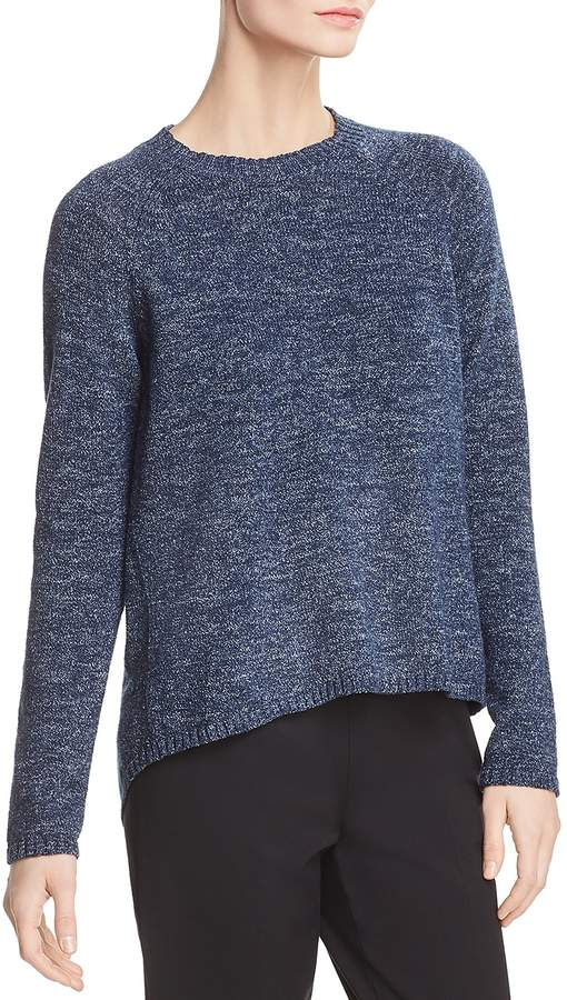 Eileen Fisher Marled Organic Cotton Sweater