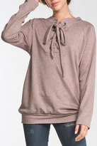 Cherish Soft Lace-Up Pullover
