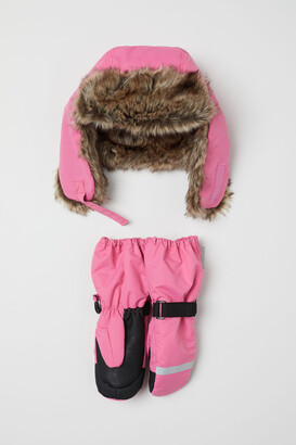 H&M Ski set with hat and mittens