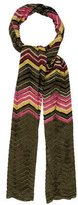M Missoni Metallic Open Knit Scarf