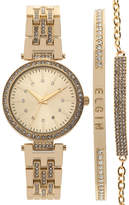 Elgin Womens Gold Tone Bracelet Watch-Eg160013gtst