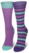 Wool IQ Girls' Wool IQ 2 Pack Knee High Wool Socks - Purple