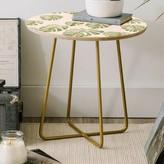 Oasis Dash and Ash Palm Round End Table East Urban Home