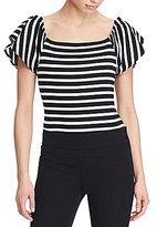 Lauren Ralph Lauren Striped Off-the-Shoulder Top