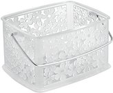 InterDesign Blumz Household Storage Basket with Handle for DVDs, Video Games and more - Small, Clear