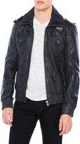 Superdry Weathered Leather Bomber Jacket