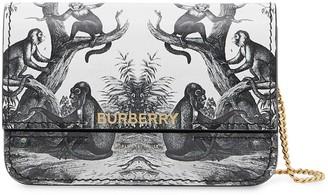 Burberry Monkey print chain-strap cardholder