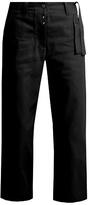 MM6 MAISON MARGIELA Waist-tie wide-leg cropped jeans