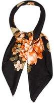 Pierre Balmain Floral Silk Scarf
