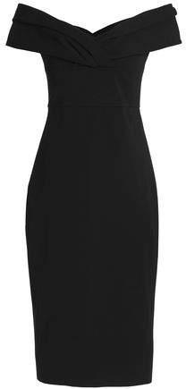 Cushnie et Ochs Cold-Shoulder Ponte Midi Dress