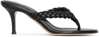 Gianvito Rossi Tropea 70 braided thong sandals