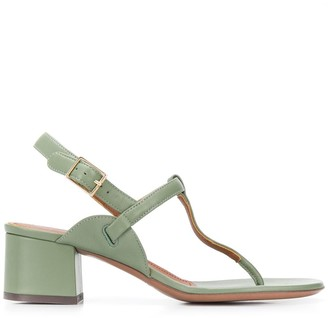 L'Autre Chose T-bar block heel sandals