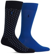 Polo Ralph Lauren Paisley & Solid Socks - Pack of 2