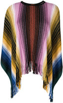 Missoni fringed knitted poncho