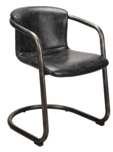 Moe's Home Collection Freeman Dining Chair Antique Black-Set Of Two