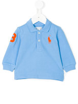 Ralph Lauren long sleeve polo shirt - kids - Cotton - 6 mth