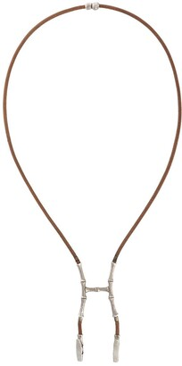 Hermes 2000s Pre-Owned Bamboo Bustier Necklace