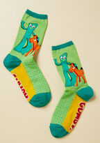 ModCloth Clay From the Norm Socks