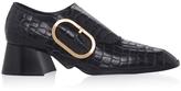 Stella McCartney Croc-effect Clasp Leather Pumps