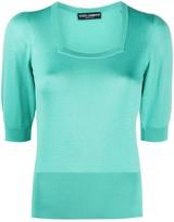 Dolce & Gabbana Short-Sleeve Knitted Top