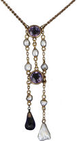 One Kings Lane Vintage Victorian Amethyst & Pearl Drop Necklace
