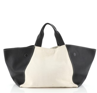Celine Frame Tote Canvas and Leather