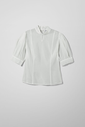 Weekday Khloe Blouse - White