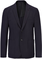 Nylon Wool Stretch Venice Jacket In Navy